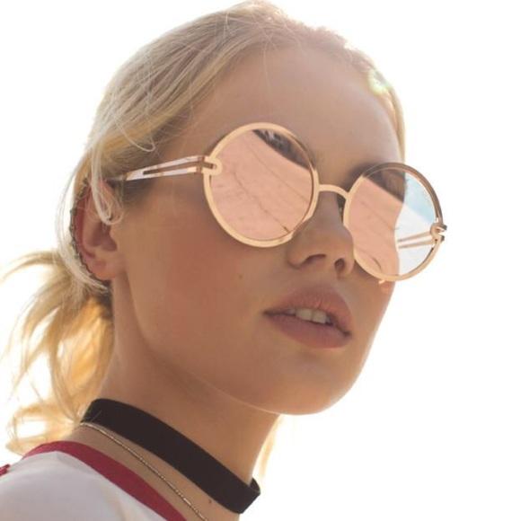 9367349973698 NWT Quay Australia Ukiyo Round Lens Sunglasses